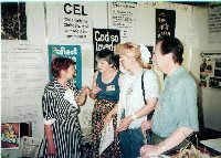 CEL members and visitors at CEL stall at Graz